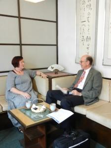 """""""Japanische Teestunde"""" zur Bilanzierung des Besuchs"""