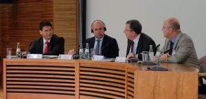 Dr. Ernst-Christoph Meier, Botschafter Marcel Peṧko,Armin Staigis, Prof. Dr. Michael Staack