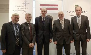 von links: Bornemann (DtAtlGes e.V.), Masala, Herrmann, Fritz, Smeddinck